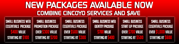 CinCoYo Small Business Packages